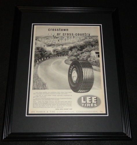 (1951 Lee Tires Framed 11x14 ORIGINAL Vintage Advertisement)