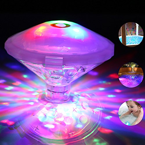 Sanyi Swimming Pool lights Baby Bath Lights Waterproof Floating Light LED Bath Light 7 Lighting Modes with Color Changing for Pool Pond Party Spa Disco Bathtub Bathroom (Pool Light Covers)