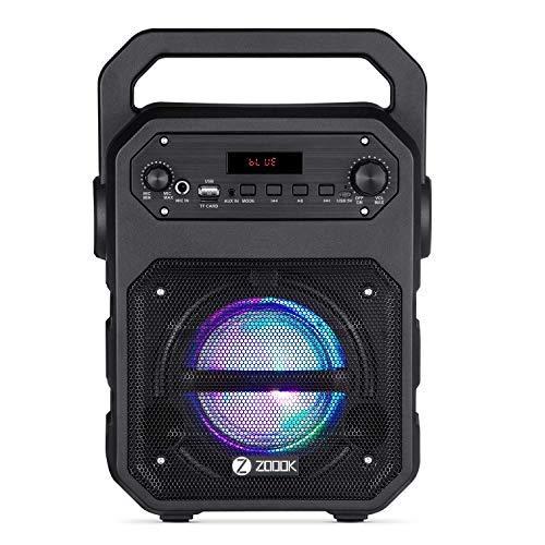 (Renewed) Zoook Rocker Thunder 20 watts Bluetooth Speaker with Karaoke Mic/TF/FM/LED/USB/Party Speaker