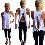 Landfox Women Summer Vest Top Sleeveless Blouse Casual Tank Tops T-Shirt