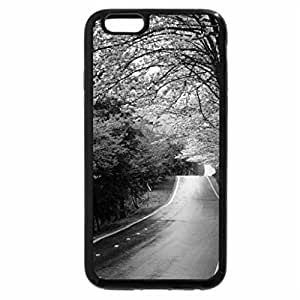iPhone 6S Case, iPhone 6 Case (Black & White) - Soft Purple Tree