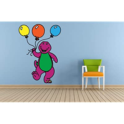 Barney and Friends Dinosaur Balloon Decors Wall Sticker Art Design Decal for Girls Boys Kids Room Bedroom Nursery Kindergarten House Fun Home Decor Stickers Wall Art Vinyl Decoration (40x20 inch): Baby