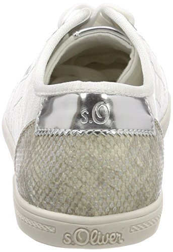 Sneakers white 23631 S oliver silver Femme Basses Blanc wqpTOUxTn