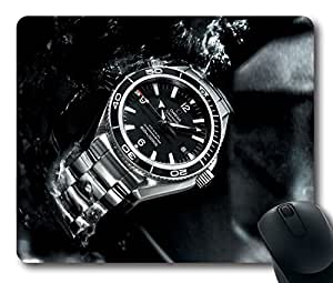 Custom Super Mouse Pad with Planet Ocean Omega Big Size Watches Seamaster Non-Slip Neoprene Rubber Standard Size 9 Inch(220mm) X 7 Inch(180mm) X 1/8 Inch(3mm) Desktop Mousepad Laptop Mouse pads Comfortable Computer Mouse Mat