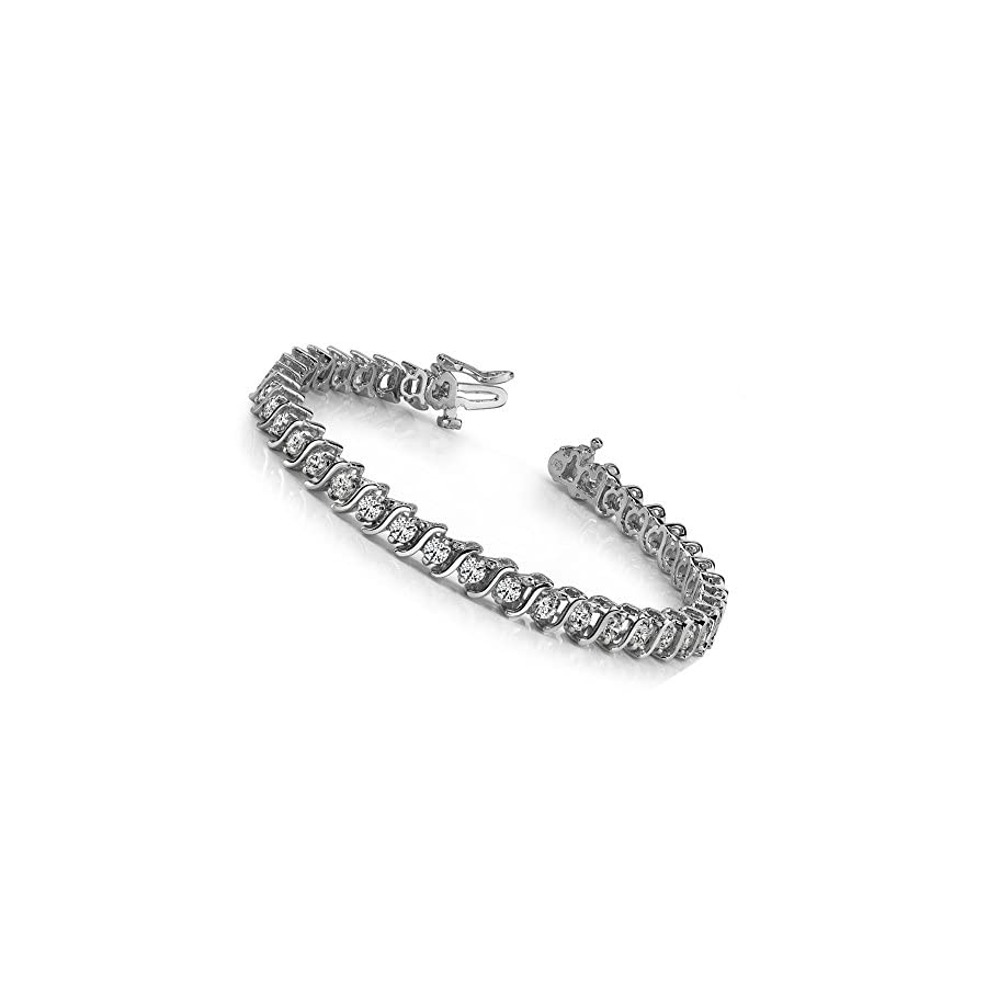5.00 ct Round Cut Diamond S Type Tennis Bracelet