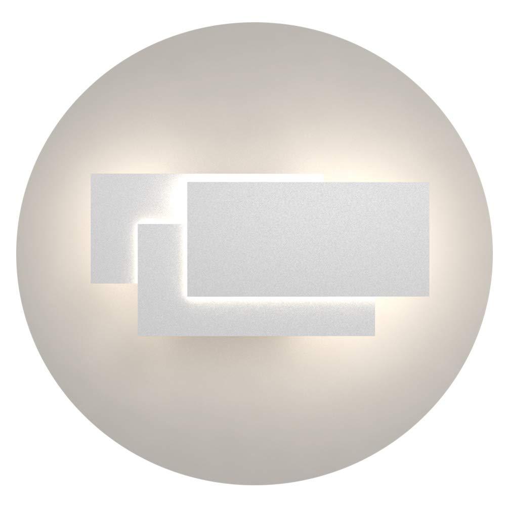 Klighten Appliques Murales Interieur LED Lampe 24W 1920LM Moderne Applique Murale pour Chambre Maison Couloir Salon Blanc chaud 3000K Noir