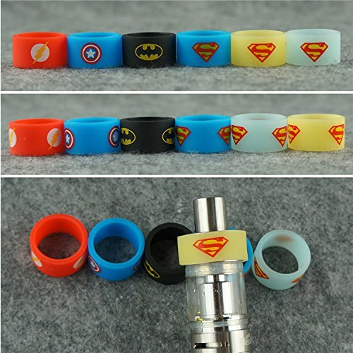 Silicone-Superhero-18MM-Vape-Bands-Tank-Band-Bumper-Ring