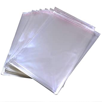 "500-8-3//4/""x11-1//4/"" CRYSTAL CLEAR SELF SEALING RECLOSABLE CELLO BAGS"