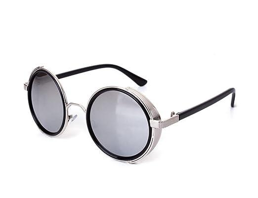 Keephen Retro punk lunettes de soleil sans lunettes polarisées non polarisées lunettes de soleil protection UV400 uxy7v10n