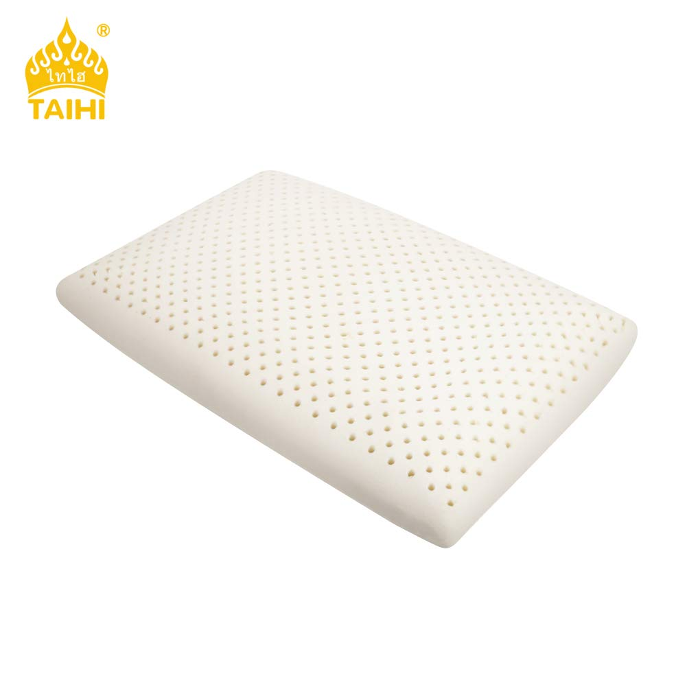 TAIHI Latex Foam Pillow, 100% Natural Latex Pillow, High Resilience Sleeping Pillow, Cervical Spine Care, Reduce Snoring, Relieve Neck Pain Washable Excellent Ventilation, Eco-Institute Certified