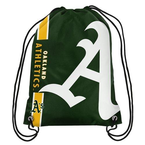 FOCO MLB Oakland Athletics Big Logo Drawstring Backpack, One Size, Team Color