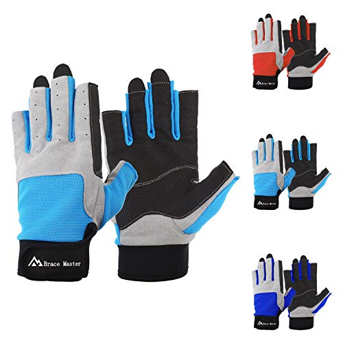 3//4 or Full Finger Mesh Back for Comfort Women and Kids Perfect for Sailing Canoeing or SUP Sizes for Men Padded Palm and Amara Reinforcement WindRider Pro Sailing Gloves Paddling