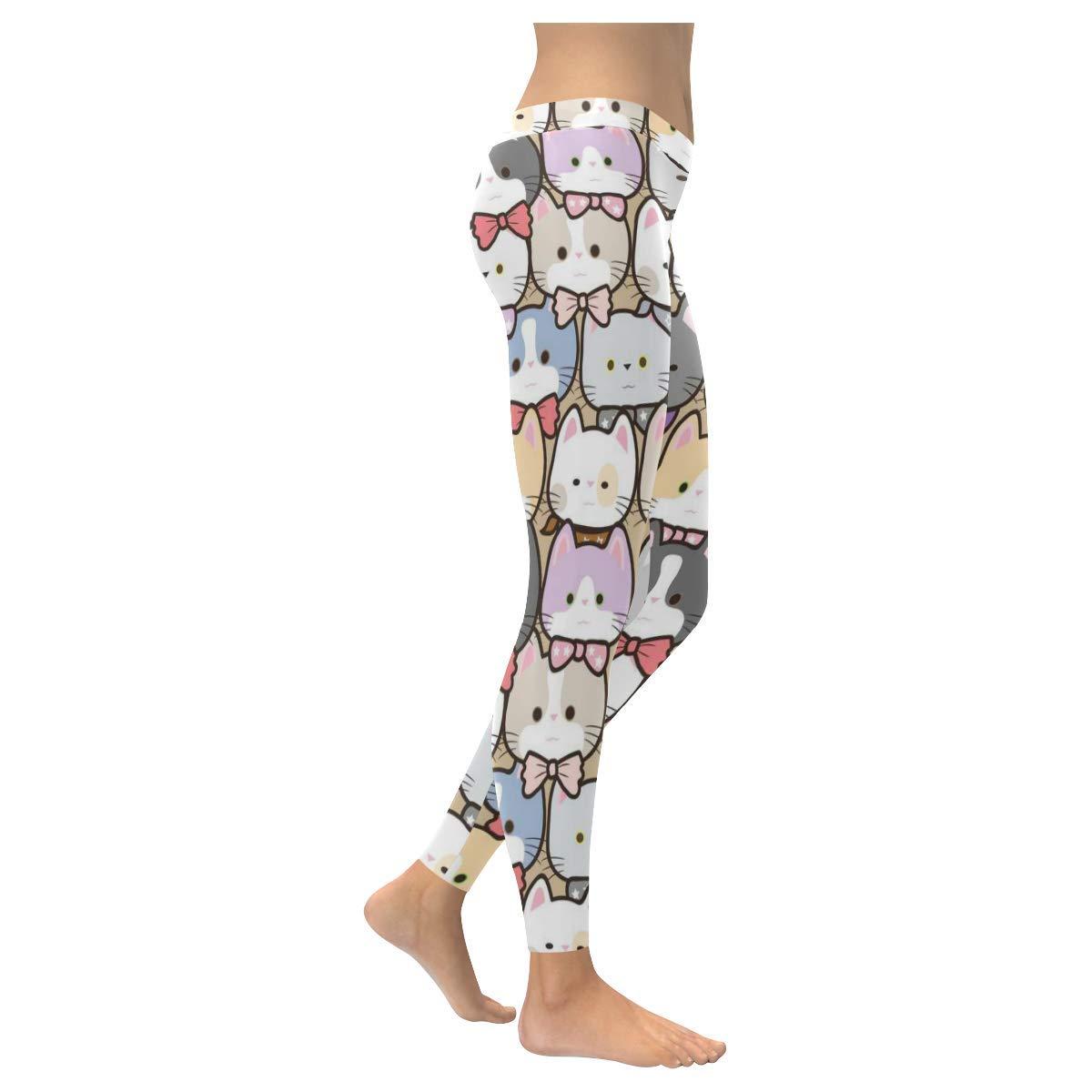 2XS-5XL InterestPrint Custom Unique Stretchy Capri Leggings Skinny Pants for Yoga Running Pilates Gym