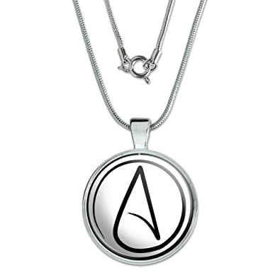 Amazon atheism atheist symbol pendant with sterling silver atheism atheist symbol pendant with sterling silver plated chain aloadofball Gallery
