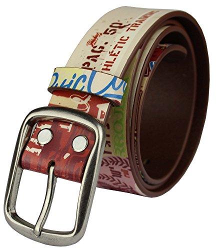 Super Star Belt (Heepliday Men's Super Star Cool Leather Belt Medium (32-34) Colorful)