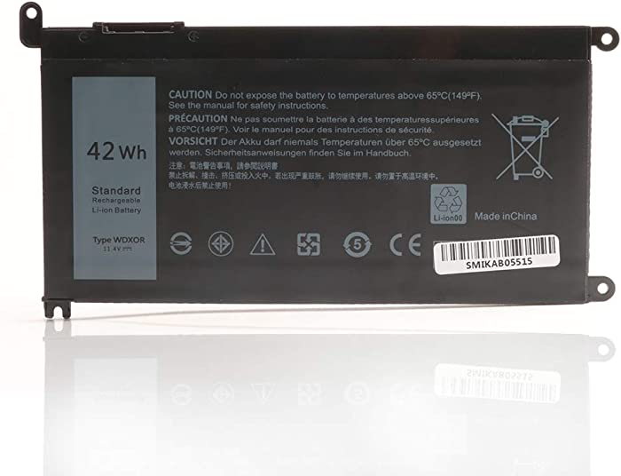 New WDX0R Laptop Battery for P/N 0WDX0R 3CRH3 P69G001 T2JX4 C4HCW 0C4HCW FC92N, Dell Inspiron 15 5368 5378 5565 5567 5568 5578 7560 7570 7579 7569 Series Notebook Battery