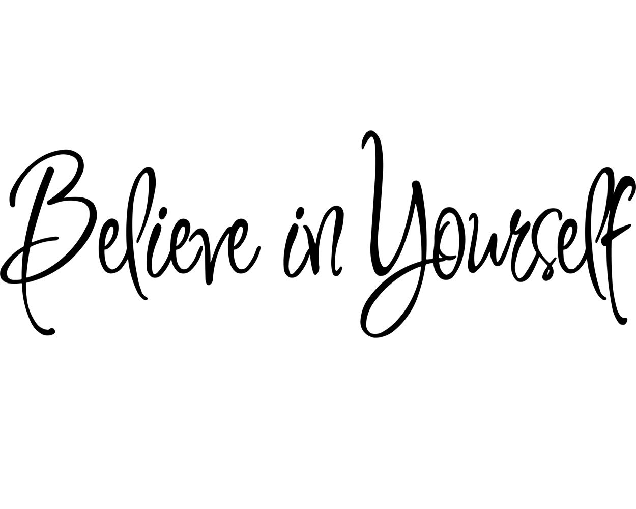 Believe in Yourself Decal Wall Quote Sayings Stickers Quotes Vinyl Inspirational Wall Decals Words Letters