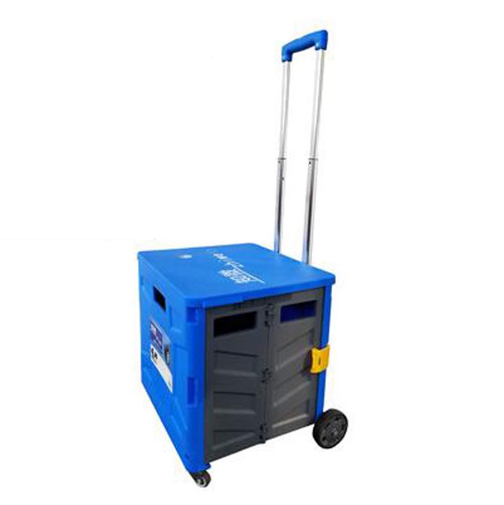 華麗 プルバー折りたたみ式四輪ショッピングカート、ユニバーサルホイール、携帯に便利 B07PP8H88Q、高強度コポリマーPP、アルミ合金素材、容量50L、50KGベアリング B07PP8H88Q Blue Blue/black/black, モノモクリエイトストア:86b01fc9 --- ciadaterra.com