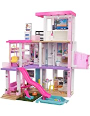 Barbie DreamHouse (3.75-ft) Big Dollhouse with Pool, Slide, Elevator, Lights & Sounds, + Dollhouse Accessories & Furniture, Toy House for Dolls, Preschool Dolls, Gift for Age 3 and up