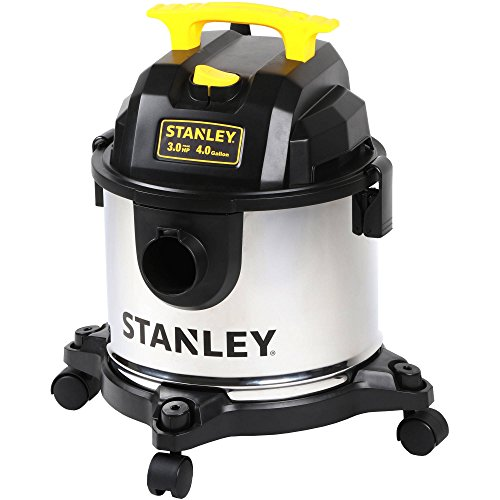 Stanley 4-Gallon Stainless Knife Wet/Dry Vacuum Features a Powerful 3 HP Motor