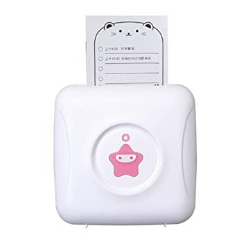 Mini Impresora Inalámbrica Bluetooth Rosa, Impresora Térmica ...