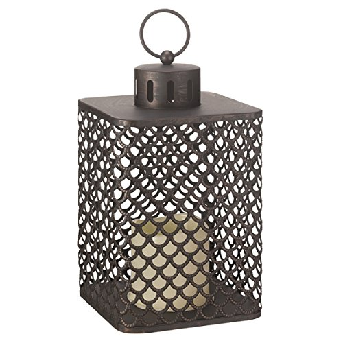 Homezone® Large Moroccan LED Candle Lantern Lights Patio Table Lights Battery Operated Garden Lighting Landscaping Lights Indoor Or Outdoor Use.