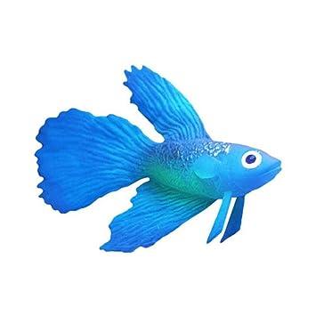 OHlive Acuario Artificial Colorido Que Brilla en la Oscuridad, Ornamento de pez Dorado luminiscente para decoración de pecera (Azul): Amazon.es: Productos ...
