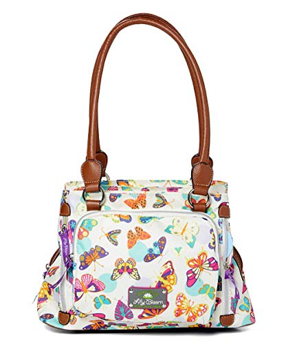 Lily bloom Maggie Satchel Handbag, Butterfly Twister