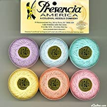 """Presencia Finca Perle Cotton Thread Sampler Pack, Size 5 (10 gram) - for sashiko, embroidery, and quilting - """"PASTEL"""" Collection"""