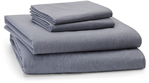 Calvin Klein Home Micro Stripe, Queen Sheet Set, Deep Wash