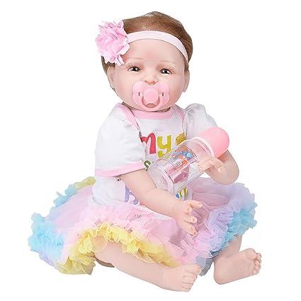 Amazon.com: Muñeca realista de bebé de 22.0 in con peso ...