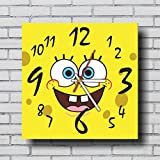 "mV FBA Spongebob Intresting Handmade Wall Clock 11.4"" - Get unique garage or living room wall decor - Gift ideas for children, friends, mother and father – Interior Decor Unique Art Design"