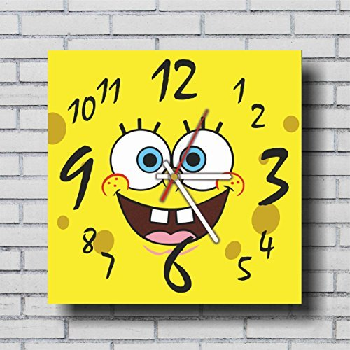 mV FBA Spongebob Intresting Handmade Wall Clock 11.4
