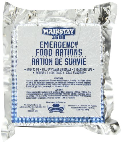 Mainstay Emergency Food Rations - Case of 10 Packs