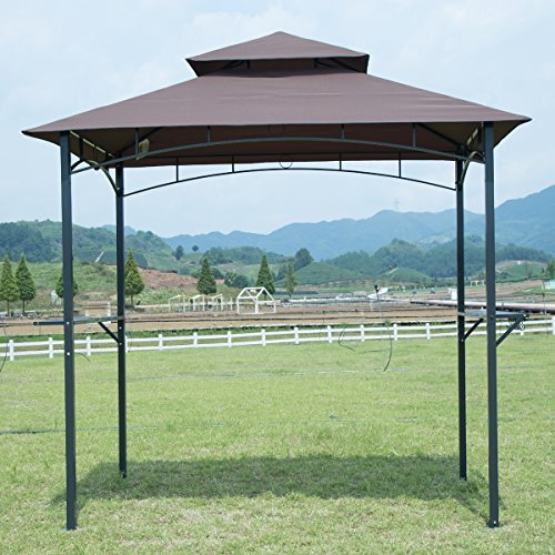 FDW 8'x 5'BBQ Grill Gazebo Barbecue Canopy BBQ Grill Tent w/Air Vent
