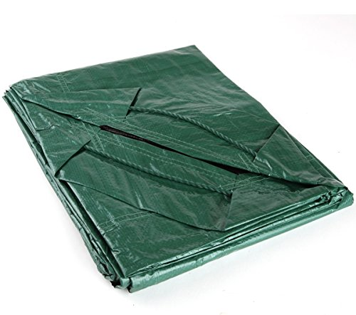 Shefko 0-99393-10606-2 Yard Tarp 5.4 X 5.4 Versatile Drawstring Tarp for Yard Clean Ups - Convenient and Handy - Formed Into an Instant Dragging Bag - Ideal as BBQ Grill and Outdoors Furniture Cover