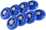 FONLAM Inline Skate Wheels Beginner's Premium Roller Blades Replacement Wheel with Bearings Rollerblade Wh