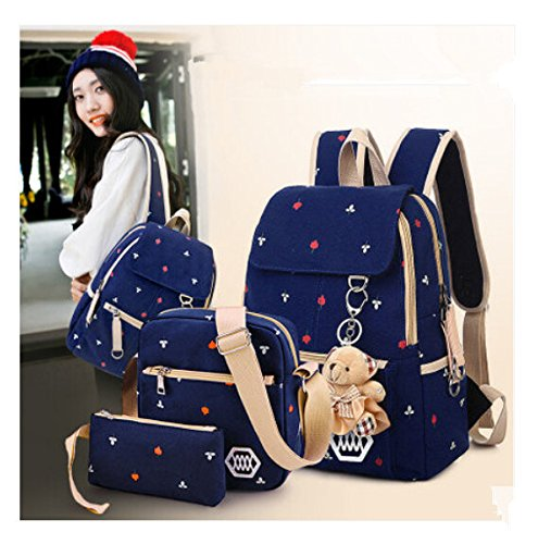 Casual Style Lightweight Canvas Laptop Backpack for School Laptop ...