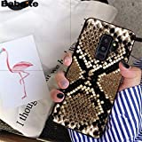 MISC Black Brown Snakeskin Galaxy S6 Edge Case Cobra Python Texture Snake Skin Phone Cover Snake Pattern Wild Animal Fashion Stylish Protective Shockproof Slim Soft, TPU