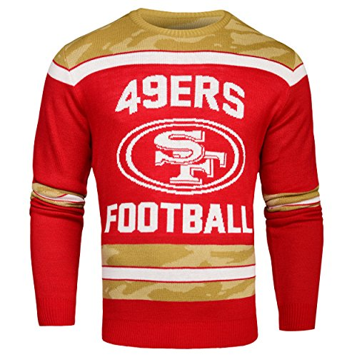 FOCO San Francisco 49ers Ugly Glow In The Dark Sweater - Mens - Mens Double Extra Large by FOCO
