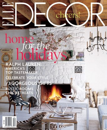Elle Decor December 2007 Magazine Home For The (Rustic Houses Wall Art)