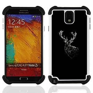 /Skull Market/ - You + Me = awesome For Samsung Galaxy Note3 N9000 N9008V N9009 - 3in1 h????brido prueba de choques de impacto resistente goma Combo pesada cubierta de la caja protec -