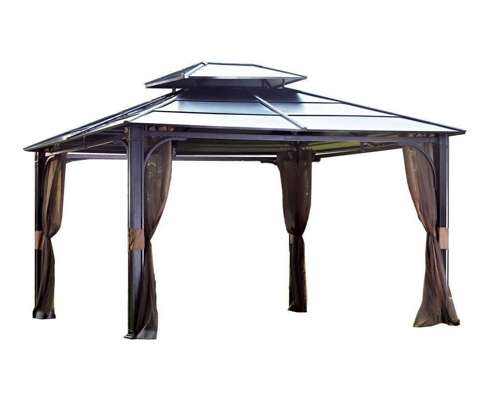 Amazon.com : Sunjoy 10 X 12 Chatham Steel Hardtop Gazebo : Garden U0026 Outdoor