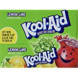 Kool-Aid Lemon Lime Unsweetened Soft Drink Mix, 0.13 Oz (Pack of 48 Packets)
