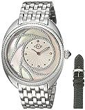 GV2 by Gevril Ancona Womens Diamond Swiss Quartz Stainless Steel Bracelet Watch, (Model: 3700)