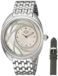 GV2 by Gevril Women's 'Ancona' Swiss Quartz Stainless Steel Casual Watch, Color:Silver-Toned (Model: 3700)