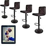 Cheap Bar Stools Set of 3 United Family Shop Vintage Bar Stools With Back Set of 4 Brown PU Leather 24 Inch to 32 Inch   Modern 360 Degree Adunited Ajustable Swivel Seat Barstools Hydraulic Chair Free Gift Yoga eBook