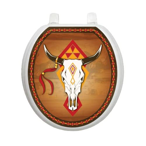 60%OFF Southwest Cow Skull TT-0007-R Round Southwest Theme Cover Bathroom