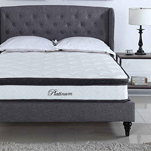 Swiss Ortho Sleep 10 inch Hybrid Innerspring and Memory Foam Pillow Top King Mattress
