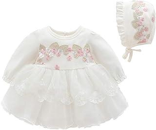 Infanzia del Merletto del Ricamo Pannello Esterno della neonata Ragazza Bambina Vestiti Abiti Donna Berretto
